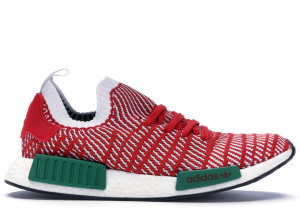 adidas  NMD R1 STLT Primeknit Christmas Collegiate Red/Cloud White/Bold Green (D96820)