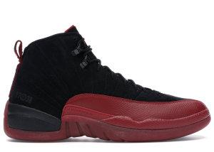 Jordan  12 Retro Flu Game (2009) Black/Varsity Red (130690-065)