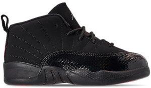 Jordan  12 Retro Black Rush Pink (TD) Black/Dark Grey-Rush Pink (819666-006)