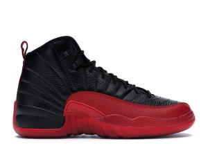 Jordan  12 Retro Flu Game 2016 (GS) Black/Varsity Red (153265-002)