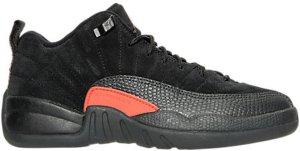 Jordan  12 Retro Low Max Orange (GS) Black/Max Orange-Anthracite-Metallic Silver (308305-003)