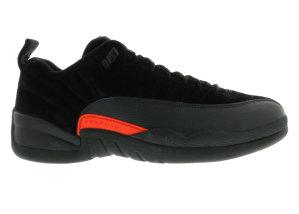 Jordan  12 Retro Low Max Orange Black/Max Orange-Anthracite-Metallic Silver (308317-003)