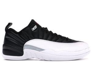 Jordan  12 Retro Low Playoffs Black/Varsity Red-White-Metallic Silver (308317-004)