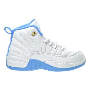 Jordan  12 Retro University Blue (PS) White/Metallic Gold-University Blue (510816-127)