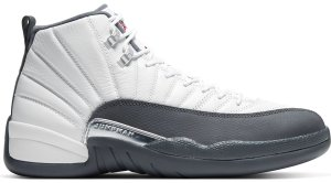 Jordan  12 Retro White Dark Grey White/Dark Grey-Gym Red (130690-160)