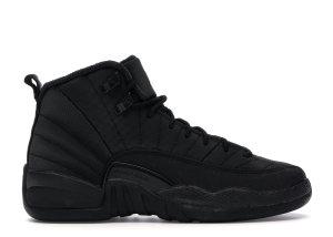 Jordan  12 Retro Winter Black (GS) Black/Black-Anthracite (BQ6852-001)