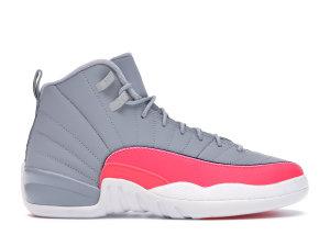Jordan  12 Retro Wolf Grey Racer Pink (GS) Wolf Grey/Racer Pink-Black (510815-060)