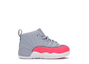 Jordan  12 Retro Wolf Grey Racer Pink (TD) Wolf Grey/Racer Pink-Black (819666-060)