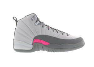 Jordan  12 Retro Wolf Grey Vivid Pink (GS) Wolf Grey/Vivid Pink-Cool Grey (510815-029)