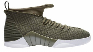 Jordan  15 Retro PSNY Olive Suede Friends and Family Medium Olive/Medium Olive-Sail-Medium Olive (AO2568 200)