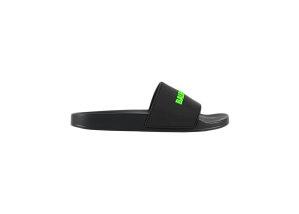 Balenciaga  Pool Slide Black Fluo Green Black (565826W1S811030)