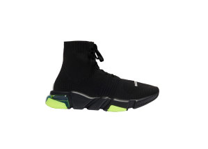 Balenciaga  Speed Lace Up Clear Sole Yellow Fluo Black/Yellow (617255W05GJ1048)