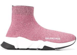 Balenciaga  Speed Lurex Knit Metallic Pink (W) Pink (593698 W0682)