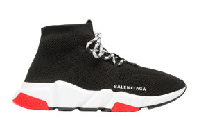 Balenciaga  Speed Trainer Lace Up Black Red Black (560237W1HP01000)