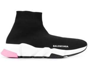 Balenciaga  Speed Trainers Mid Black Light Pink (W) Black (587280 W1703 1070)