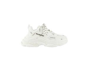 Balenciaga  Triple S Allover Logo White (W) White/Black (524039W2FA19010)