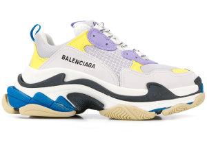 Balenciaga  Triple S Purple Yellow Blue (W) Off White (524039 W09O M9465)