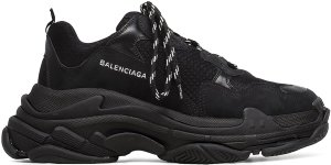 Balenciaga  Triple S Triple Black (2018 Reissue) (Nondistressed) Black/Black (51278 W0901 1000)