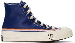 Converse  Chuck Taylor All-Star 70s Hi Breaking Down Barriers Knicks Rush Blue/Bold Mandarin-Egret (166815C)