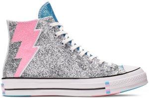 Converse  Chuck Taylor All-Star Hi Pride Silver (2019) Silver/Egret-Gnarly Blue (165723C)
