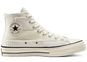 Converse  Mono Patchwork Chuck 70 High Top White Egret White/Egret/Black (167139C)