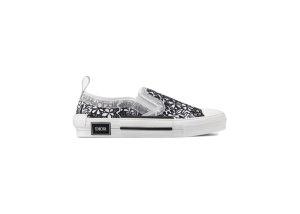 Dior  And Shawn B23 Slip On Black White Embroidery Black/White (3SN262ZCO_H169)