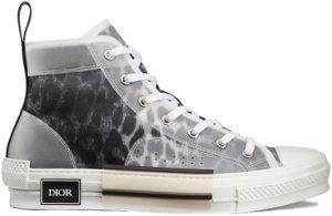 Dior  B23 High Top Grey Leopard Black/White (3SH118YTC_H960)