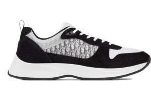 Dior  B25 Oblique Runner Sneaker Black Suede Black (3SN259YUH_H960)