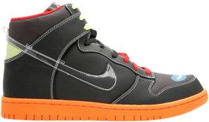 Nike  Dunk High PRM Casette Playa Black/Sport Red/Orange Blue (306968-005)