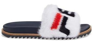 Fila  Fendi Slides Mink White White/Fila Navy-Fila Red (7X1176AK19F14ZD)