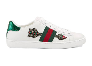 Gucci  Ace Embroidered Arrow (W) White (_454551 A38G0 9064)