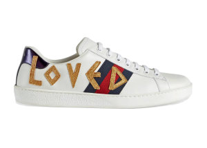 Gucci  Ace Embroidered Love White (_497090 DOPE0 9095)
