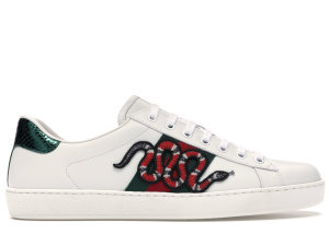 Gucci  Ace Embroidered Snake White (456230 A38G0 9064)