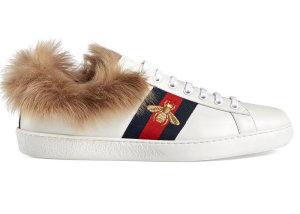 Gucci  Ace Fur White (496093 0FI50)