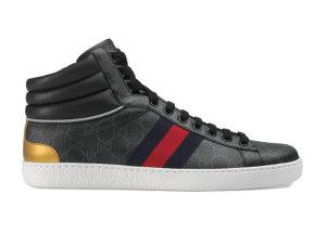 Gucci  Ace GG High Top Black Black (555197 92T20 1140)