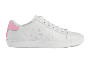 Gucci  Ace Interlocking G White (W) White/Pink (598527 AYO70 9076)