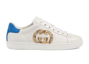 Gucci  Ace Interlocking GG Snake (W) White/Beige/Blue (627823 02JW0 9072)
