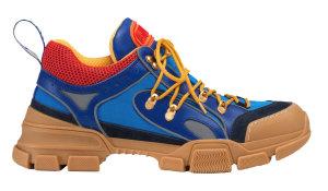 Gucci  Flashtrek SEGA Blue Suede Blue/Red/Yellow (543149 9PYN0 4362)