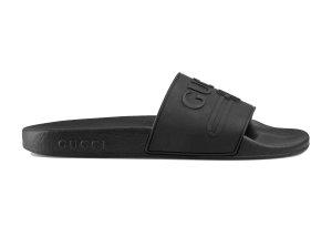 Gucci  Logo Slide Black Rubber Black (525140 JCZ00 1031)