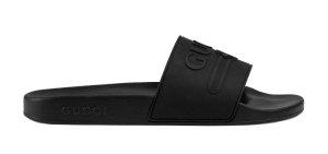 Gucci  Logo Slide Rubber Black Black (522887 JCZ00 1031)