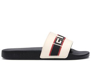 Gucci  Stripe Slide White White/Black (_522884 JC200 9572)