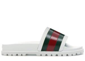 Gucci  Web Slide Sandal White White/Green-Red (429469 GIB10 9079)