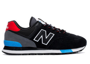 New Balance  574 Black Velocity Red Black/Velocity Red (ML574JHO)