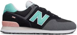 New Balance  574 Marbled Street Black Black/Light Tidepool (ML574UJC)