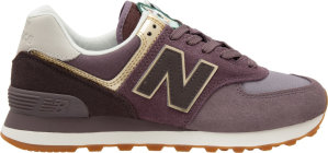 New Balance  574 Metallic Patch Purple (W) Dark Cashmere/Purple/Gold (WL574MLB)
