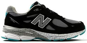 New Balance  990v3 Black Grey Teal Black/Grey (M990OB3)