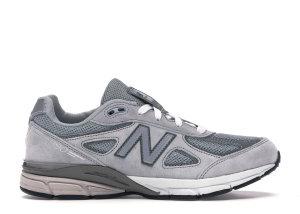 New Balance  990v4 Grey (GS) Grey/Grey (KJ990GLG)