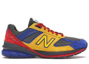New Balance  990v5 Shoe City x Eat Yellow/Blue-Red (M990EAT5)