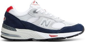 New Balance  991 Grey Navy Red Blue/Grey-White (M991GWR)