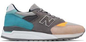 New Balance  998 Grey Blue Yellow Tan/Blue-Yellow (M998AWB)